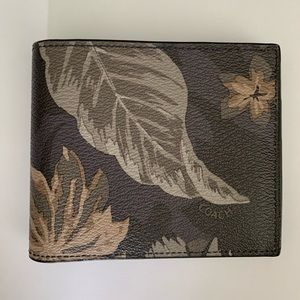 Men's Coach leaf print wallet